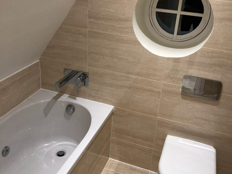 Loft-to-bathroom and bedroom conversion, Chigwell