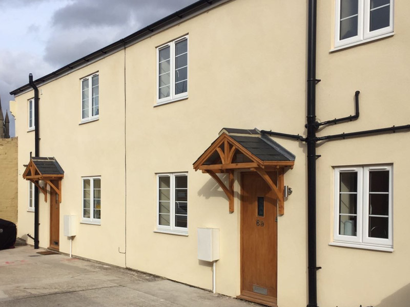 Warehouse converted to 2 two-bedroom houses, Bury St Edmunds