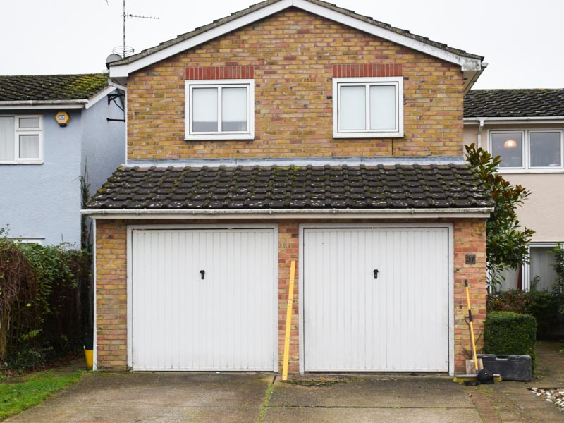 Garage-to-office conversion, East Bergholt